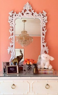 White Baroque Mirror - Hollywood Regency - Nursery ...