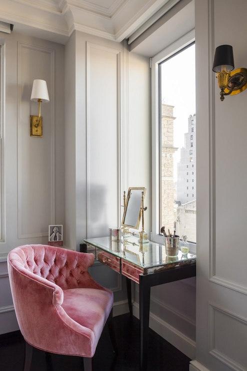 west elm desk chair graco 4 in 1 high pink velvet tufted design ideas
