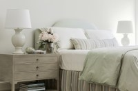 Gray Bedside Table - Transitional - Bedroom