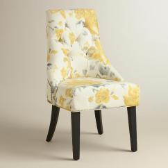 Yellow And Grey Chair Nursing Target Floral Tufted Gray Lydia Dining
