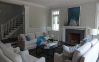 Half Shiplap Walls - Transitional - Living Room