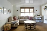 Family Room with Beadboard Wainscoting - Transitional ...