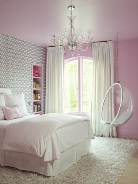 gray and pink twin girl bedroom ideas Pink and Gray Kids Bedroom - Contemporary - Girl's Room