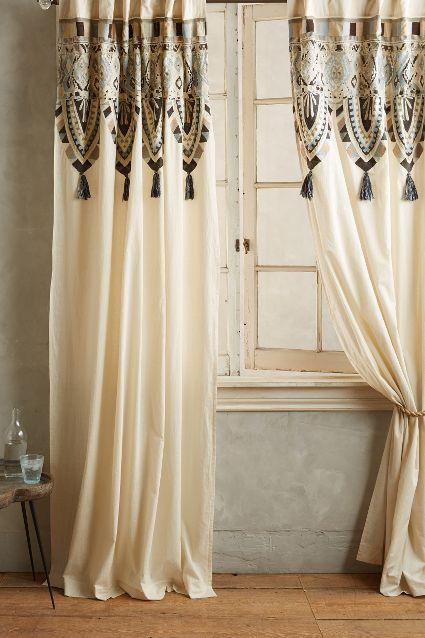 Mariana Cream and Black Curtain