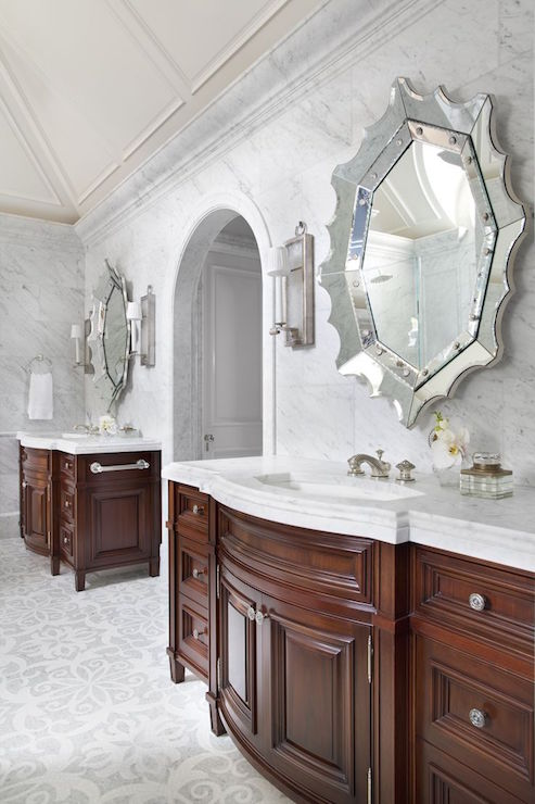 Spider Web Vanity Mirrors  Transitional  Bathroom