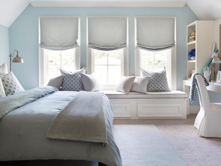 Cute Wallpapers For Lockers Blue Bedroom With Gray Nightstand Transitional Bedroom