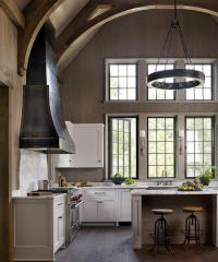 Kitchen with Cathedral Ceiling - Transitional - Kitchen