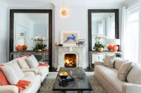 Blue and Orange Living Rooms - Transitional - Living Room
