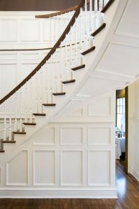 Staircase Wall with Wainscoting - Transitional - Entrance ...