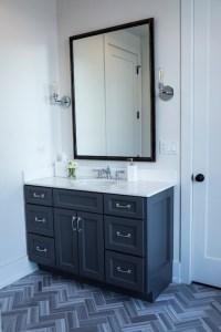 Dark Gray Bathroom Vanity - Contemporary - Bathroom