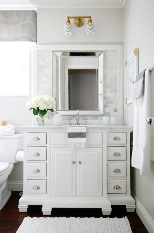 Double Abrams Sconce  Transitional  Bathroom  Benjamin