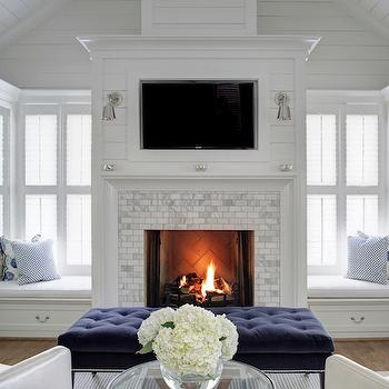 Bedroom Fireplace  Transitional  bedroom  Giannetti Home