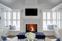 Glass Front Cabinets - Cottage - living room - H2 Design ...
