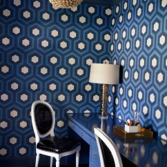 French Cafe Chairs Butterfly Chair Covers Etsy Blue Office With Hexagon Wallpaper - Contemporary Den/library/office