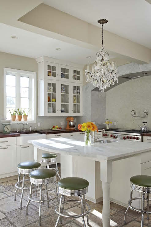 kitchen cabinets with legs countertops granite island curved countertop - transitional