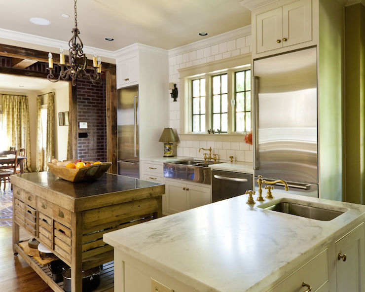Cooper Double Kitchen Island  Country  Kitchen