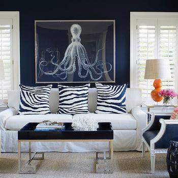 navy blue living room furniture tv setup ideas sofa design white and with orange accents
