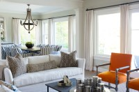 Orange Accent Chairs - Transitional - Living Room