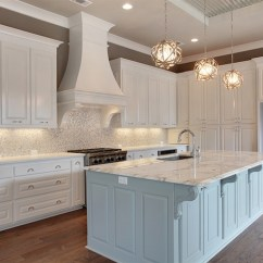 White Kitchen Backsplash Do It Yourself Cabinets And Silver Iridescent Tile Transitional