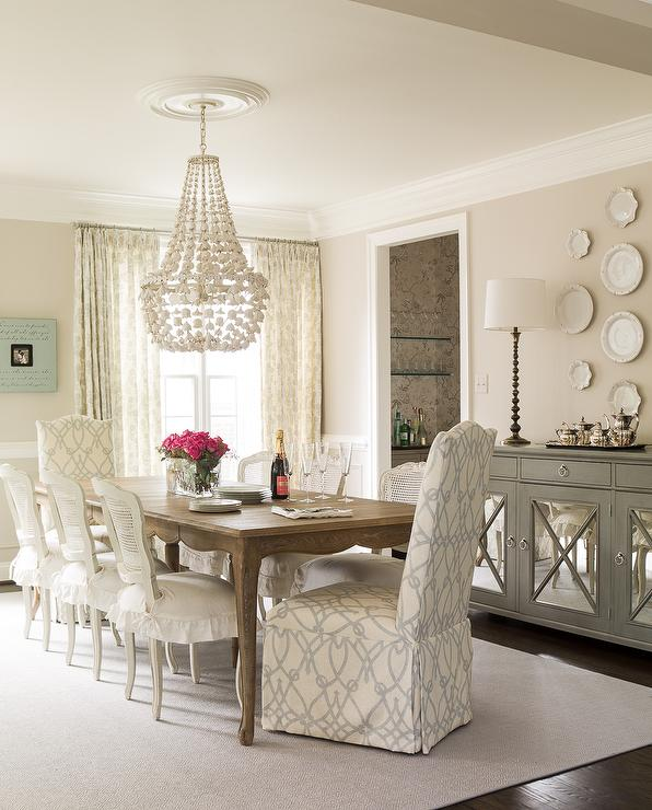 cane back dining room chairs double seat chair french table with white transitional beautiful features a lined skirted cushions as well slipper captain