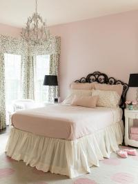 Pink and Black Girls Bedroom - Transitional - Girl's Room