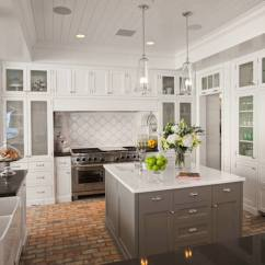 Brick Floor Kitchen Storage Cabinets Free Standing With Contemporary