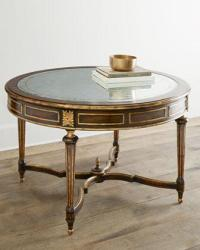 LS Dimond Home Box Rings Entry Table in Gold