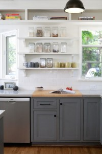 Charcoal Gray Kitchen Cabinets - Transitional - Kitchen