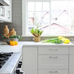Grey Kitchen Backsplash Unfinished Cabinets Home Depot White With Transitional