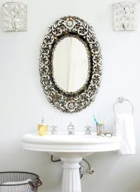 Gold Ornate Mirror - Transitional - bathroom - Anne Coyle ...