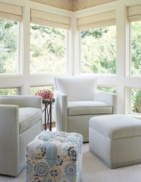 Window Treatments for Sunrooms - Transitional - Living Room