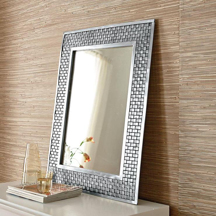 Blanc Mosaic Glass Floor Mirror
