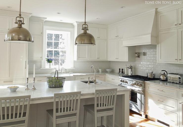 White on White Kitchen Design  Transitional  Kitchen