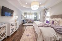 Purple and Gray Bedrooms - Contemporary - Bedroom