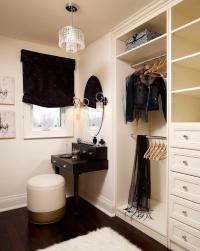 Closet with Black Makeup Vanity - Transitional - Closet