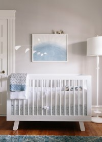 White and Gray Boys Nursery - Transitional - Nursery
