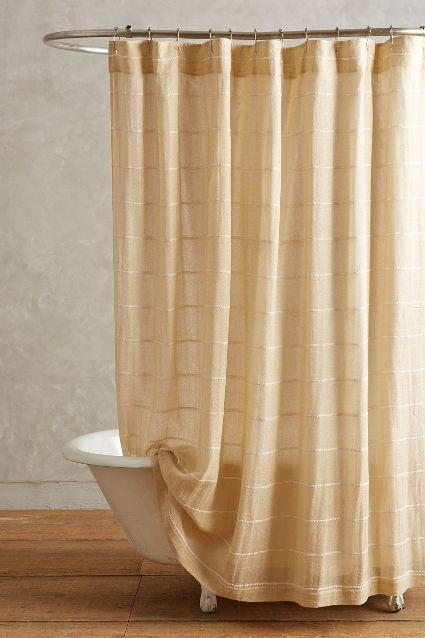 Radiant Chevron Bronze And White Shower Curtain