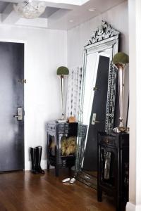 Foyer with Venetian Floor Mirror