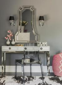 White Lacquer Dressing Table Design Ideas