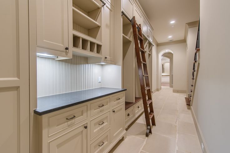 design ideas long narrow living room grey area rugs mudroom lockers ladder on rails - cottage laundry