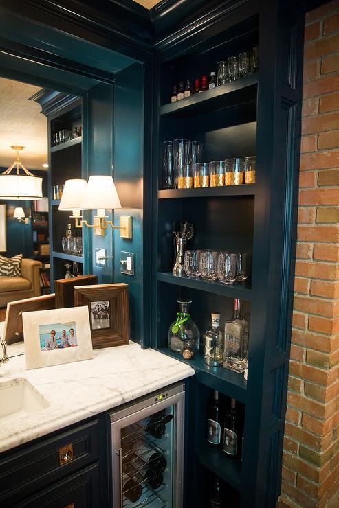 Built In Bar Shelves Design Ideas