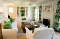 Living Room with Green Accents - Transitional - Living Room