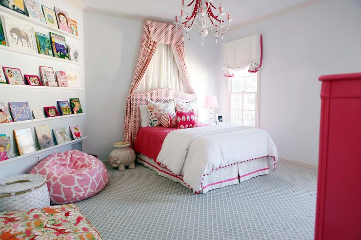 Kids Pleated Bed Valance Transitional Girl S Room