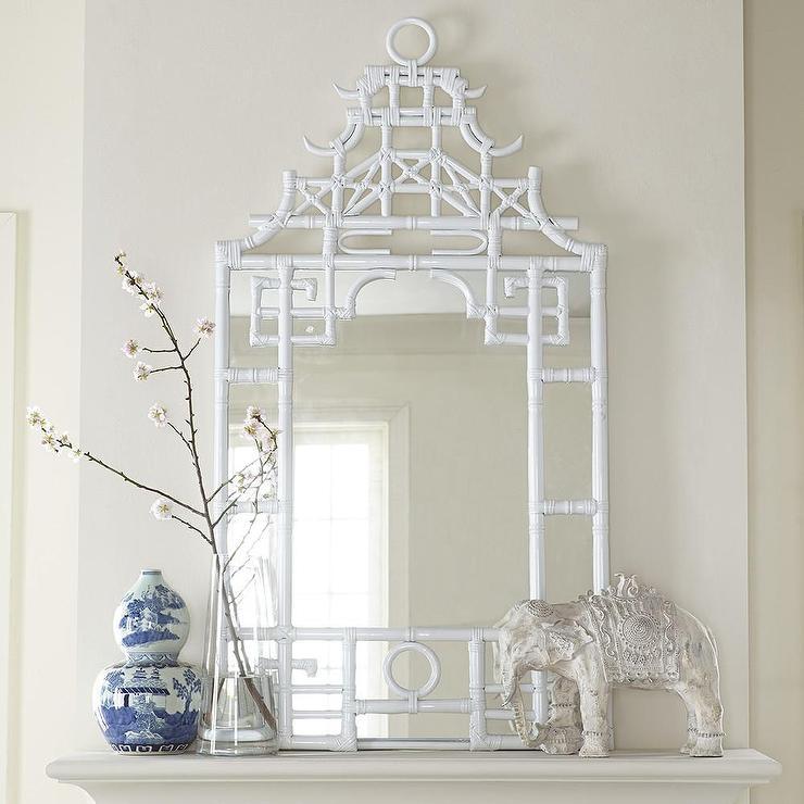 Pagoda White Mirror