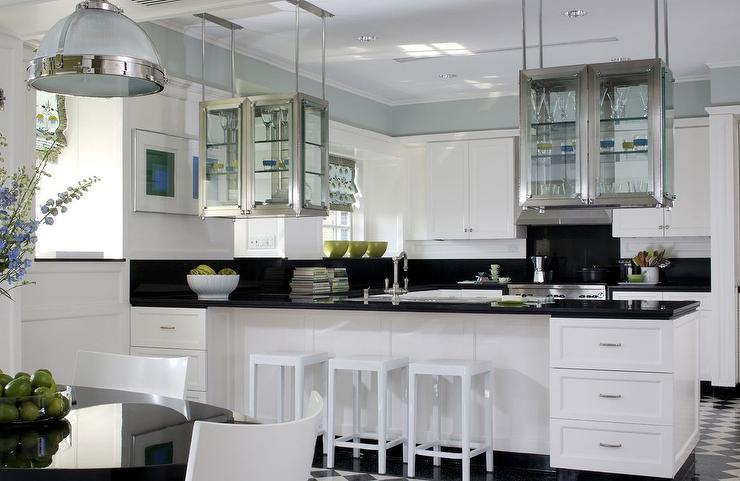 Kitchen With Suspended Cabinets
