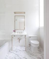 Bathroom with Polished Nickel Medicine Cabinet