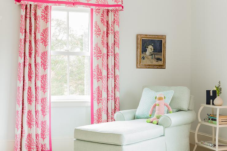 Coral Pink Curtains Design Ideas
