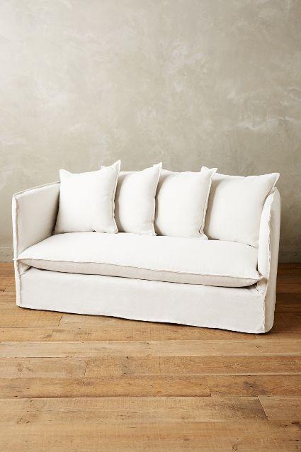 belgian linen sofa king urban dictionary carlier white slipcover settee