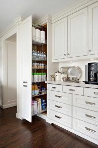 Floor to Ceiling Pull Out Pantry Cabinet - Transitional ...