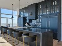 Contemporary Black Kitchen Design - Contemporary - Kitchen